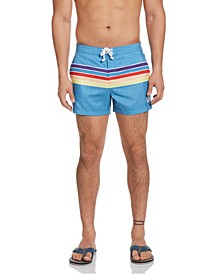 "Men's Engineered Stripe 3"" Swim Trunk"