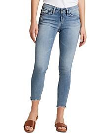 Suki Ripped-Hem Curvy Skinny Jeans