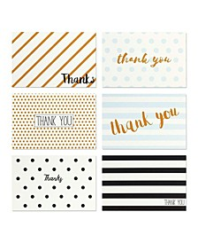 144 Thank You Cards Box Set Variety Pack with Envelopes