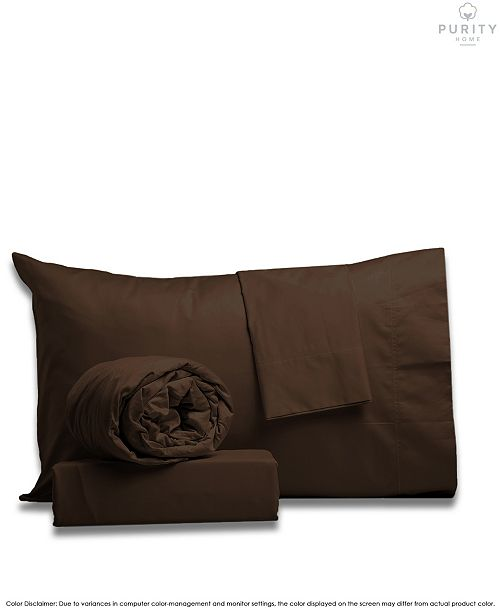 Purity Home Garment Wash Cotton Sheet Sets Full