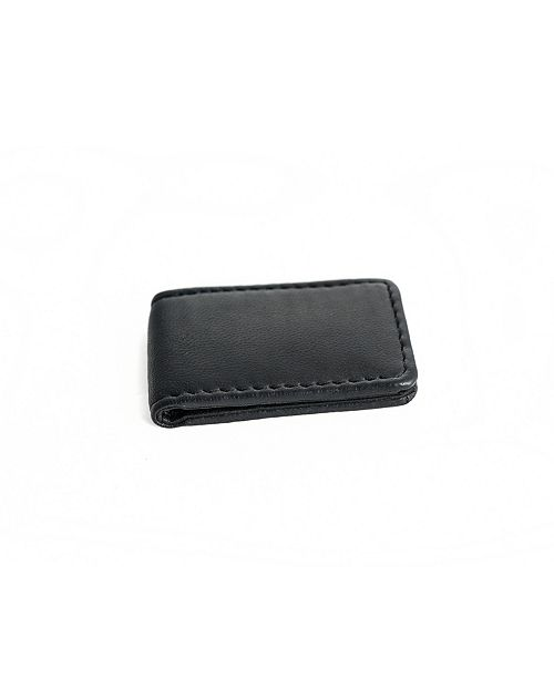 CHAMPS Genuine Leather Magnetic Money Clip