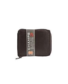 Genuine Leather RFID Blocking Zip-Around Wallet