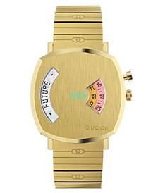 Men's Swiss Grip Gold PVD Stainless Steel Bracelet Watch 38mm