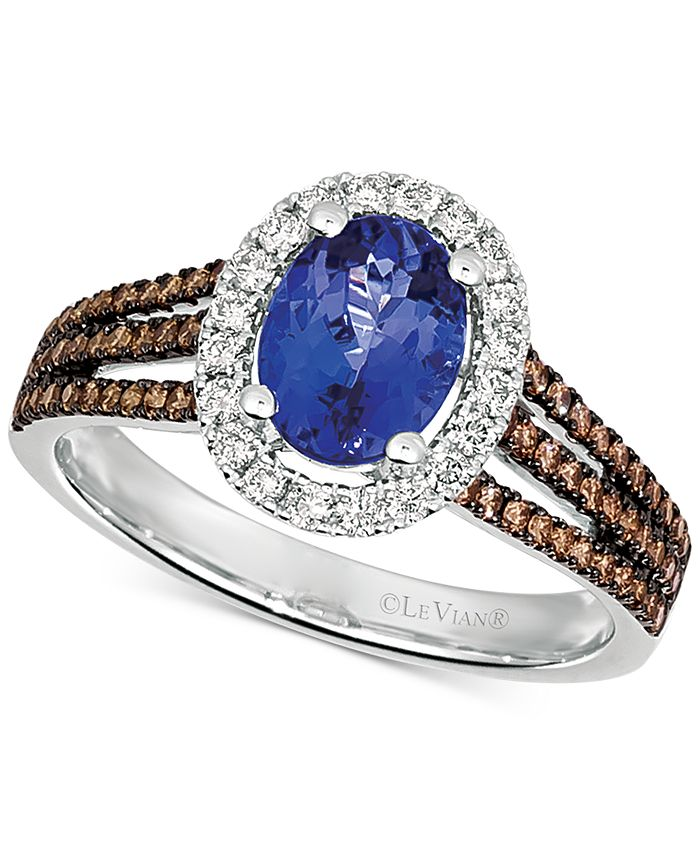 Le Vian - Blueberry Tanzanite (1 ct. t.w.) & Diamond (1/2 ct. t.w.) Ring in 14k White Gold
