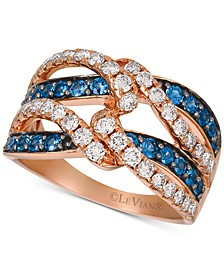 Blueberry Sapphire (5/8 ct. t.w.) & Diamond (7/8 ct. t.w.) Ring in 14k Rose Gold