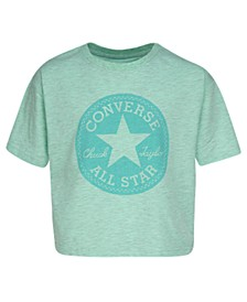 Big Girls Boxy-Fit Patch Logo Graphic T-Shirt