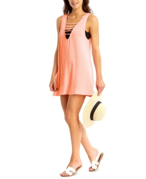 Juniors' Strappy Cover-Up Dress