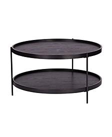 Kanabi Round Farmhouse Style Cocktail Table