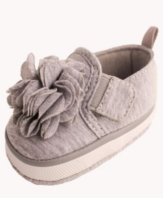 Baby Deer White Canvas Espadrille with Fuchsia Chiffon Flower Baby Size 1 2 3