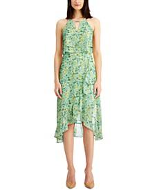 Printed Popover Midi Dress
