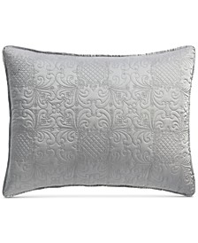 Embroidered Silky Satin  Standard Sham , Created for Macy's