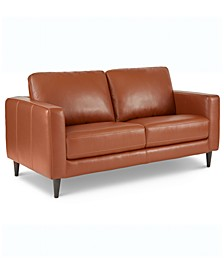 "Jennis 58"" Leather Loveseat, Created for Macy's"