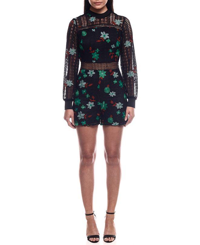 Colcci Embroidered LaceJumpsuit