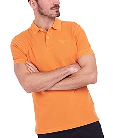 Men's Washed Sport Polo Shirt