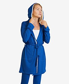 Women's Hooded Jersey Robe and Pants Loungewear