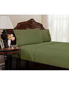 Embroidered Bed Sheets Set - Queen