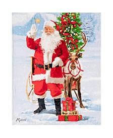 Inc Christmas Throw Santa and Rudolph