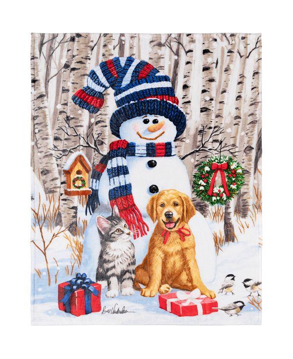 Safdie & Co Inc Christmas Throw Snowman and Friends