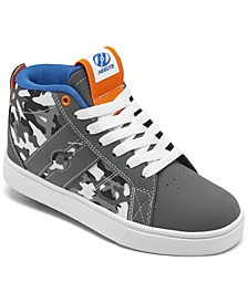 Little Boys Racer Mid Wheeled Skate Casual Sneakers from Finish Line