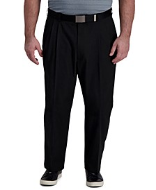 Men's Big & Tall Classic-Fit Cool Right Performance Flex Pleated Solid Dress Pants