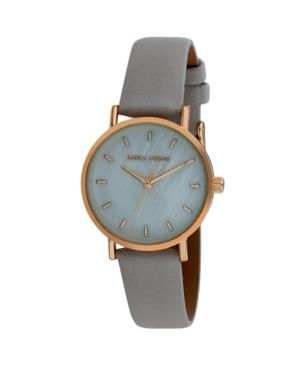 Women's Slim Clean Gray Polyurethane Strap Watch 34mm