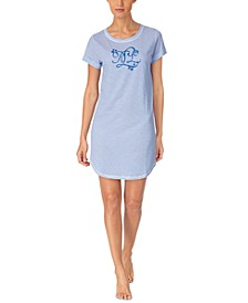 Logo-Print Sleep Shirt Nightgown
