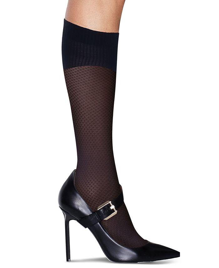 Hanes - Women's Perfect Socks Diamond Compression Knee Socks