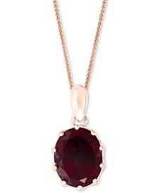 """LALI Jewels Rhodolite Garnet 18"""" Pendant Necklace (5-1/3 ct. t.w.) in 14k Rose Gold"""