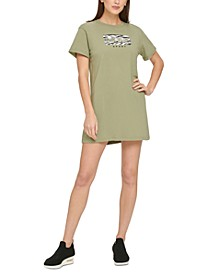 Sport Cotton Printed-Logo T-Shirt Dress