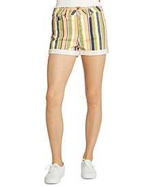 Dickies Juniors' Striped Cotton Button-Fly Shorts