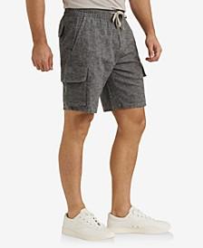 Mens Linen Cargo Short
