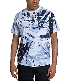 Men's Tropical Tie Dye Script Cities T-shirt
