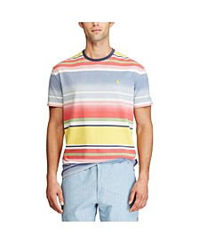 폴로 랄프로렌 Polo Ralph Lauren Mens Classic Fit Striped T-shirt,French Blue Print