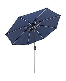 Spun-Poly Solar Lights 9' Tilting Outdoor Patio Umbrella