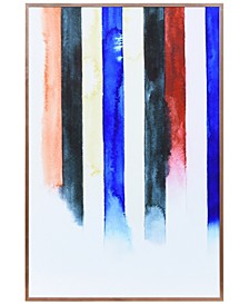 """Northern Traces on Reverse Printed Art Glass and Anodized Aluminum Frame Wall Art, 24"""" x 16"""" x 1"""""""