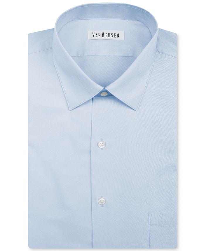 Van Heusen - Men's Classic-Fit Herringbone Dress Shirt