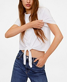 Knot Cotton T-Shirt