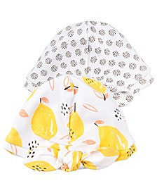 Baby Girl 2-Pack Turban Bow Caps