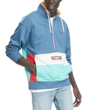 Tommy Hilfiger Denim Men's Travis Half-Zip Colorblock Sweatshirt