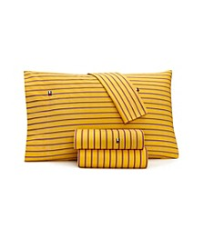 Tommy Hilfiger Global Stripe Oxford Queen Sheet Set