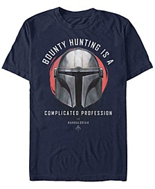 Star Wars The Mandalorian a Complicated Profession Portrait Short Sleeve Men's T-shirt
