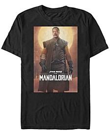 Star Wars The Mandalorian Greef Karga Character Poster Short Sleeve Men's T-shirt