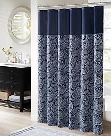"""Aubrey Jacquard Shower Curtain, 72"""" W x 72"""" L"""