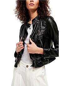 Heartbreaker Faux-Leather Moto Jacket
