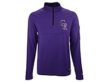 Colorado Rockies Men's Brushback Quarter-Zip Pullover