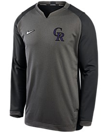 Men's Colorado Rockies Authentic Collection Thermal Crew Sweatshirt