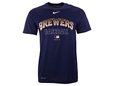 Milwaukee Brewers Men's Authentic Collection Legend Practice T-Shirt