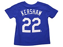 Los Angeles Dodgers Kids Clayton Kershaw Name and Number Player T-Shirt