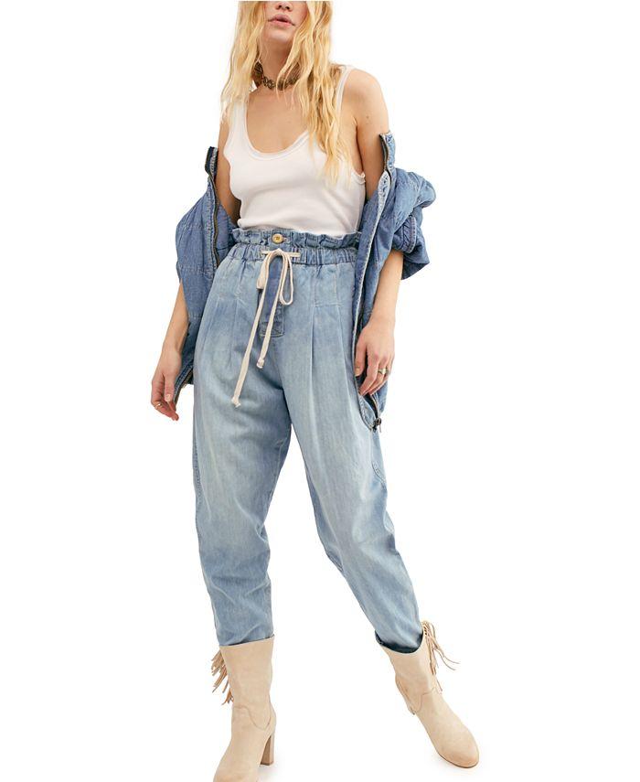 Free People - Margate Pleated Denim Pants