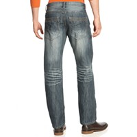 Deals on I.N.C. Stretch Slim Straight Jeans